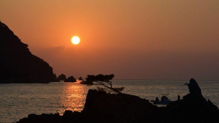 天草の夕日を撮る2|拝背・鳴瀬の夕陽河浦町﨑津
