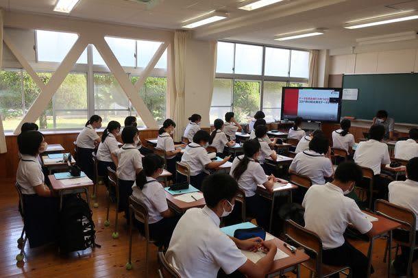 ジャパンシステム、SSH指定校、熊本県立天草高校に「データを読み解く」をテーマに講義を提供
